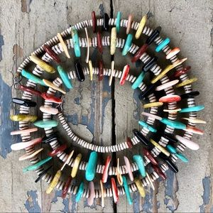 Jewelry - Vintage Heishi Turquoise Jasper Shell Necklace